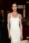 Model Hilary Rhoda attends the Chanel Tribeca Film Festival Artist Dinner during the 2014 Tribeca Film Festival at Balthazar on April 22 2014 in New...