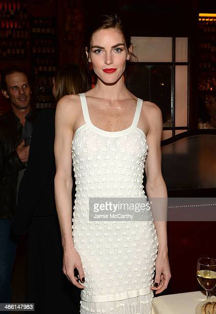 Model Hilary Rhoda attends the Chanel Tribeca Film Festival Artist Dinner during the 2014 Tribeca Film Festival at Balthazar on April 22 2014 in New...