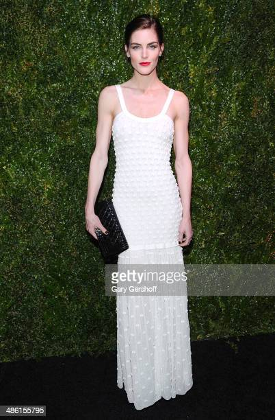 Model Hilary Rhoda attends the Chanel Tribeca Film Festival Artist Dinner at Balthazer on April 22 2014 in New York City