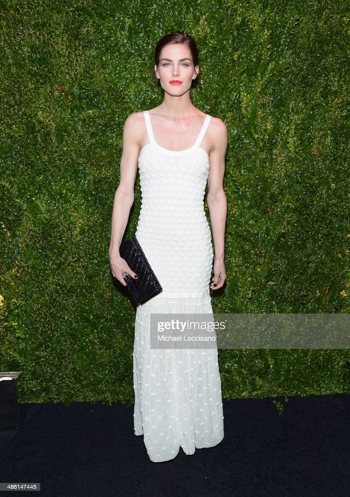 Model <a gi-track='captionPersonalityLinkClicked' href=/galleries/search?phrase=Hilary+Rhoda&family=editorial&specificpeople=637945 ng-click='$event.stopPropagation()'>Hilary Rhoda</a> attends the CHANEL Tribeca Film Festival Artists Dinner at Balthazar on April 22, 2014 in New York City.