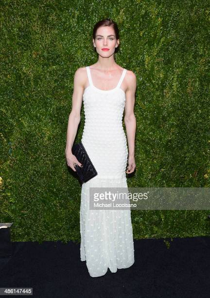 Model Hilary Rhoda attends the CHANEL Tribeca Film Festival Artists Dinner at Balthazar on April 22 2014 in New York City