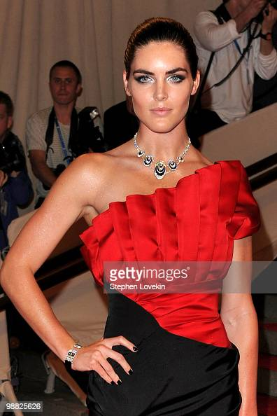 Model Hilary Rhoda attends the Costume Institute Gala Benefit to celebrate the opening of the 'American Woman Fashioning a National Identity'...