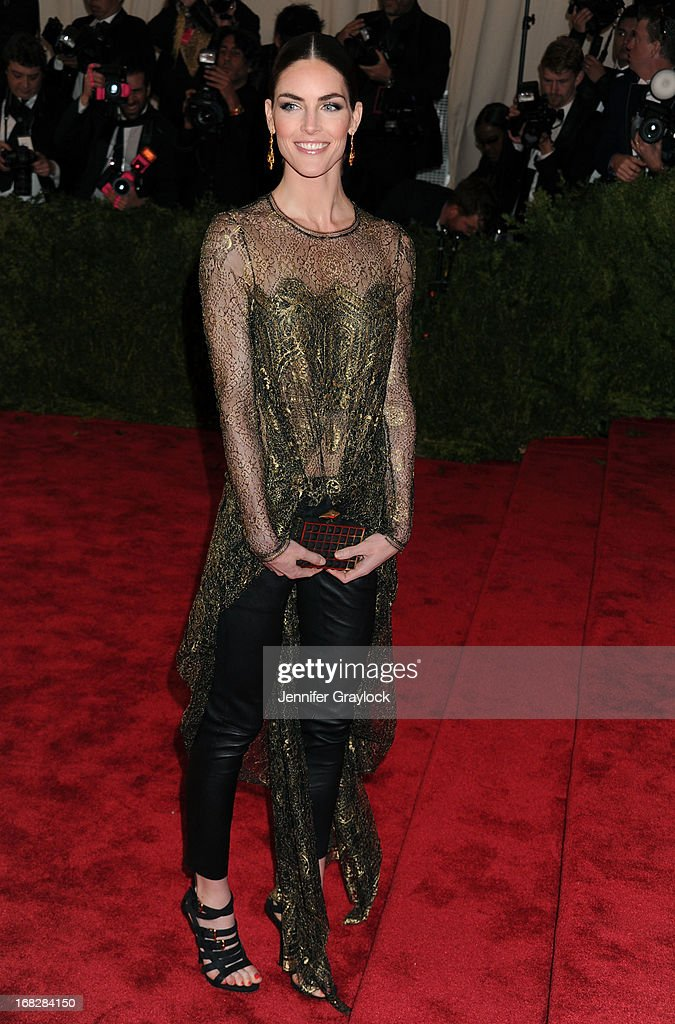 Model Hilary Rhoda attends the Costume Institute Gala for the 'PUNK: Chaos to Couture' exhibition at the Metropolitan Museum of Art on May 6, 2013 in New York City.