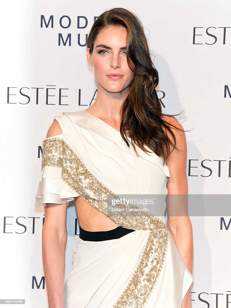 Model Hilary Rhoda attends the Estee Lauder 'Modern Muse' Fragrance Launch at Guggenheim Museum on September 12, 2013 in New York City.