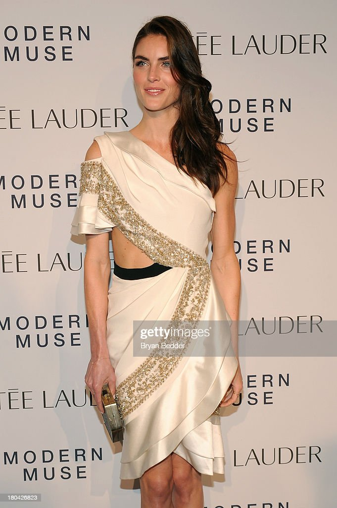 Model Hilary Rhoda attends the Estee Lauder 'Modern Muse' Fragrance Launch Party at the Guggenheim Museum on September 12, 2013 in New York City.