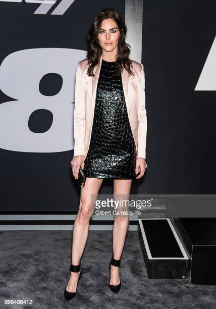 Model Hilary Rhoda attends 'The Fate Of The Furious' New York Premiere at Radio City Music Hall on April 8 2017 in New York City