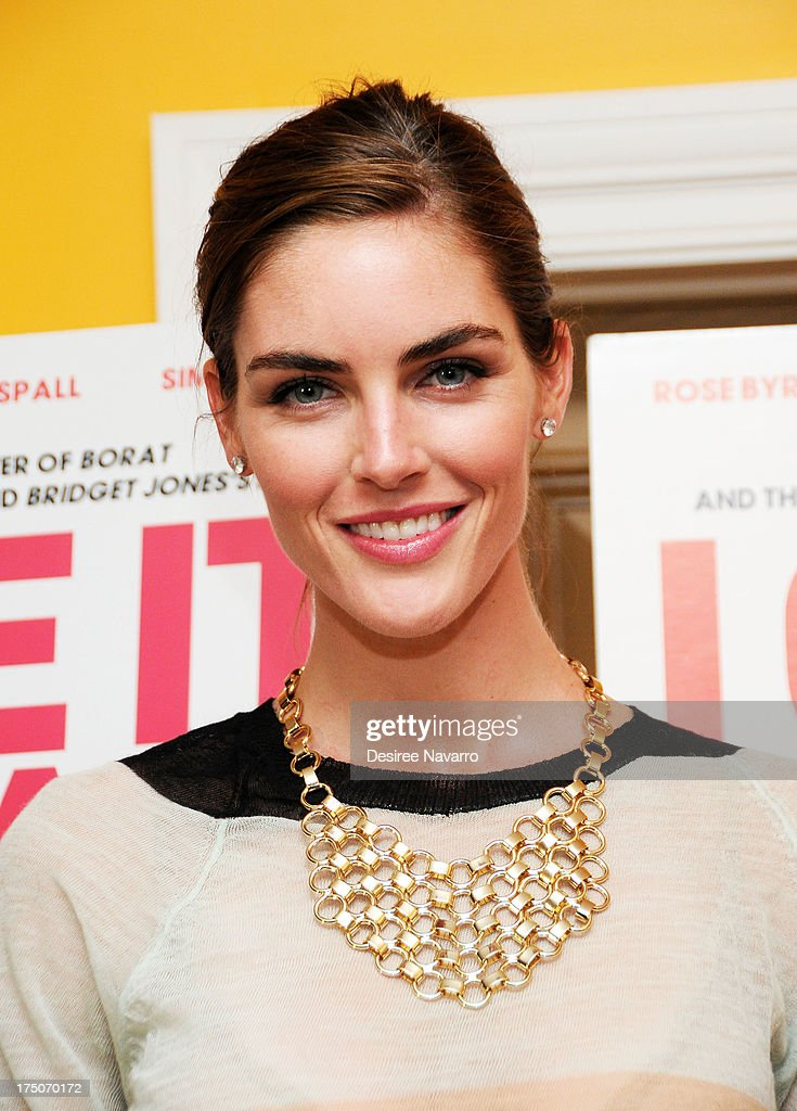 Model <a gi-track='captionPersonalityLinkClicked' href=/galleries/search?phrase=Hilary+Rhoda&family=editorial&specificpeople=637945 ng-click='$event.stopPropagation()'>Hilary Rhoda</a> attends the 'I Give It A Year' New York Screening at the Crosby Street Theater on July 30, 2013 in New York City.