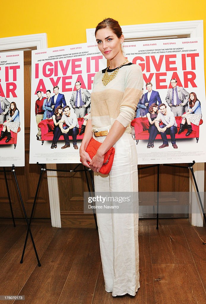 Model Hilary Rhoda attends the 'I Give It A Year' New York Screening at the Crosby Street Theater on July 30, 2013 in New York City.