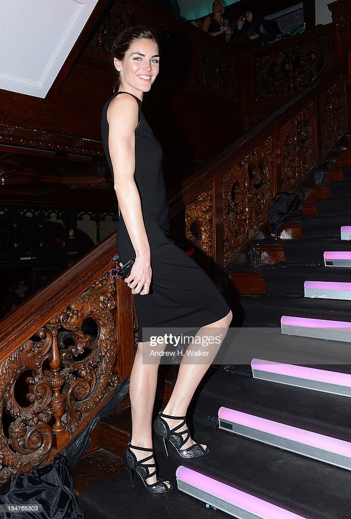 Model Hilary Rhoda attends the Jimmy Choo and Rob Pruitt Collection Launch on October 25, 2012 in New York City.