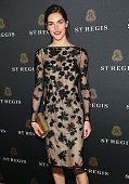 Model Hilary Rhoda attends the King Cole Bar And Salon opening at the St Regis on November 19 2013 in New York City