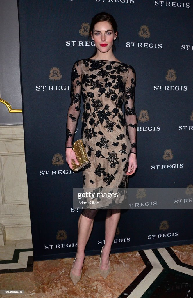 Model Hilary Rhoda attends the opening of the King Cole Bar And Salon at the St Regis on November 19 2013 in New York City