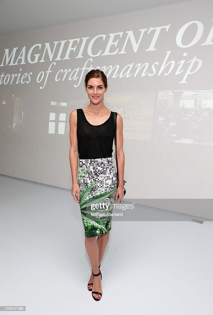 Model <a gi-track='captionPersonalityLinkClicked' href=/galleries/search?phrase=Hilary+Rhoda&family=editorial&specificpeople=637945 ng-click='$event.stopPropagation()'>Hilary Rhoda</a> attends the Persol Magnificent Obsessions event honoring Julie Weiss and Jeannine Oppewall at the MMI on July 10, 2013 in New York City.