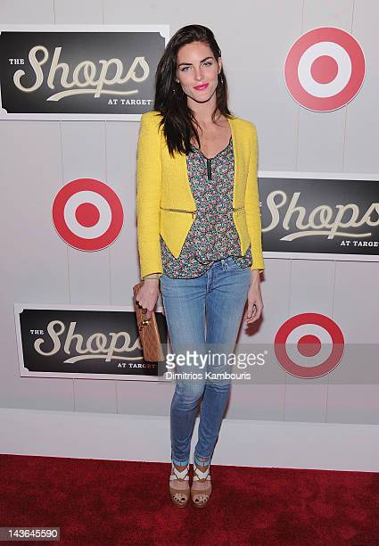 Model Hilary Rhoda attends The Shops At Target Launch Party on May 1 2012 in New York United States