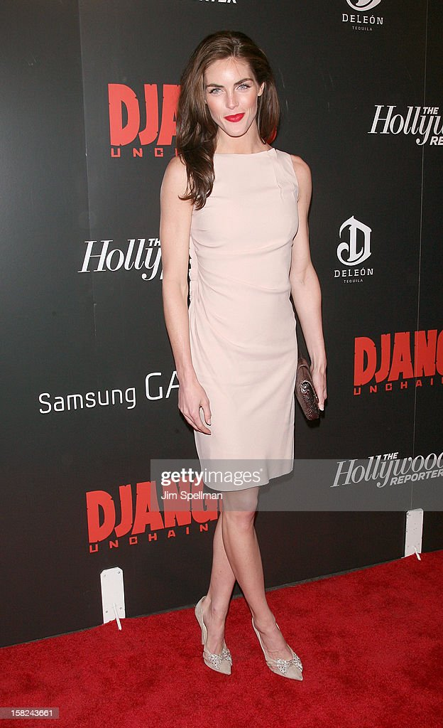 Model Hilary Rhoda attends The Weinstein Company with The Hollywood Reporter, Samsung Galaxy & The Cinema Society screening of 'Django Unchained' at the Ziegfeld Theatre on December 11, 2012 in New York City.