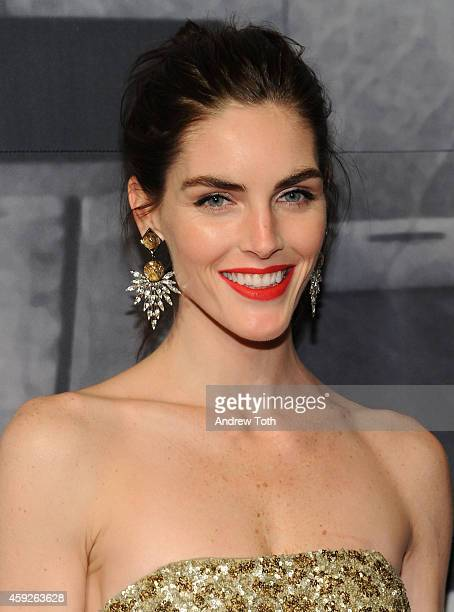 Model Hilary Rhoda attends The Whitney Museum Of American Art's 2014 Gala Studio Party at The Whitney Museum of American Art on November 19 2014 in...