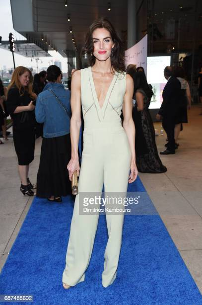 Model Hilary Rhoda attends the Whitney Museum's annual Spring Gala and Studio Party 2017 sponsored by Audi and Michael Kors on May 23 2017 in New...