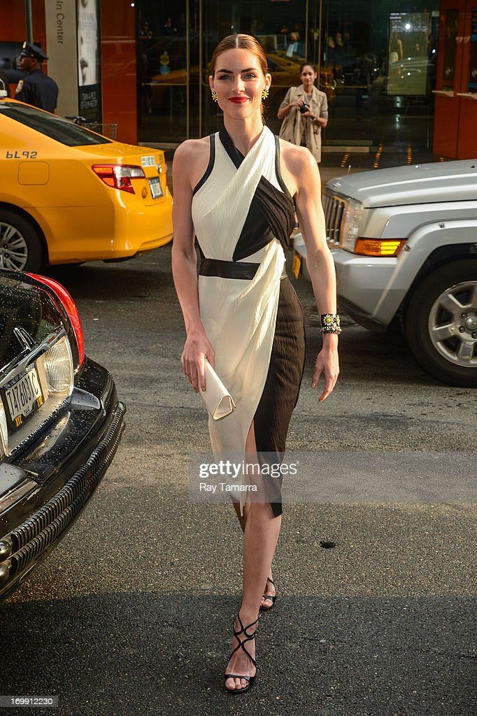 Model Hilary Rhoda enters the 2013 CFDA Fashion Awards on June 3, 2013 in New York, United States.