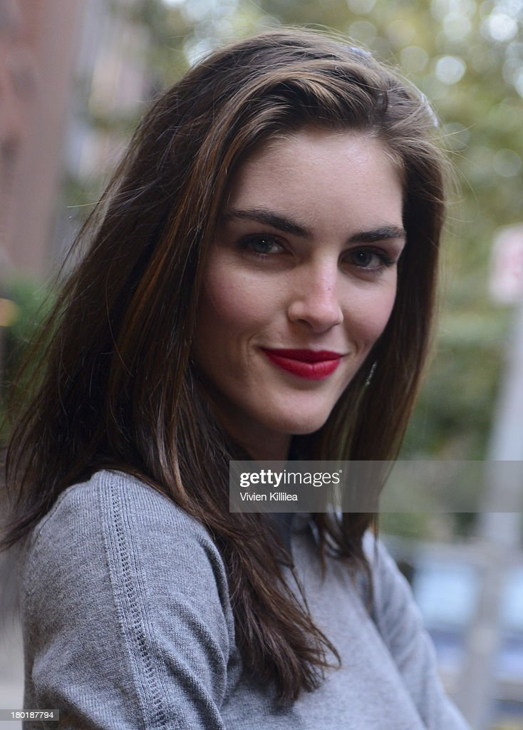 Model Hilary Rhoda is seen outside the Dannijo presentation during Mercedes-Benz Fashion Week Spring 2014 at Industria Studios on September 9, 2013 in New York City.