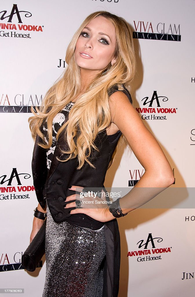 Model Holley Dorrough attends the Viva Glam magazine summer 2013 print issue launch party at W Hollywood on August 25, 2013 in Hollywood, California.