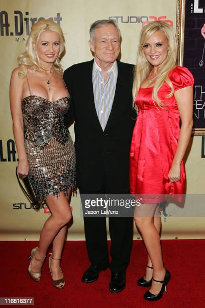Model Holly Madison Hugh Hefner and model Bridget Marquardt at the LA Direct Magazine Holiday Party at Le Deux Nightclub in Hollywood California on...