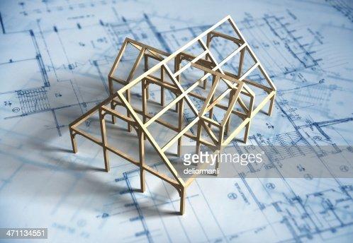 Maison modèle et Plan d'architecte