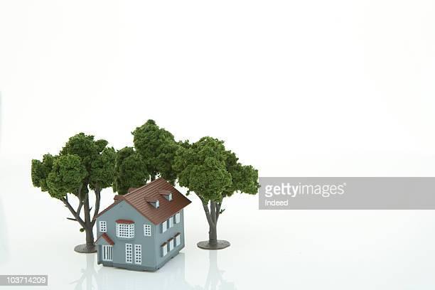 Model house, close-up