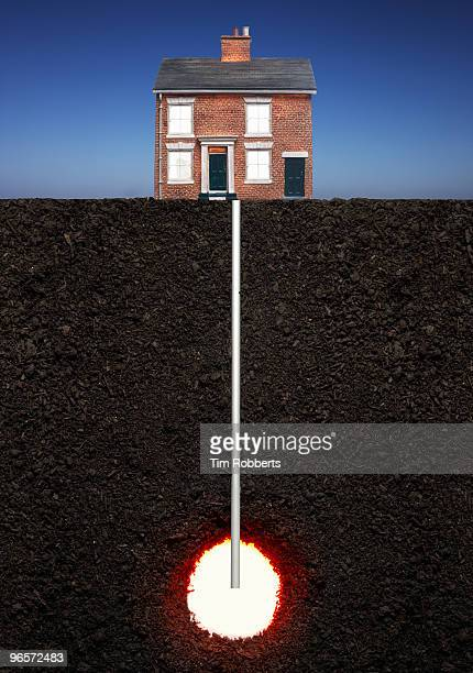 Model house powered by geothermal heat.