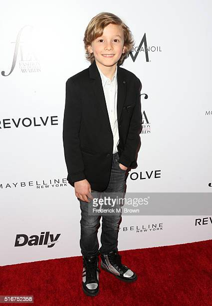 Model Hudson Kroenig attends the Daily Front Row 'Fashion Los Angeles Awards' at Sunset Tower Hotel on March 20 2016 in West Hollywood California