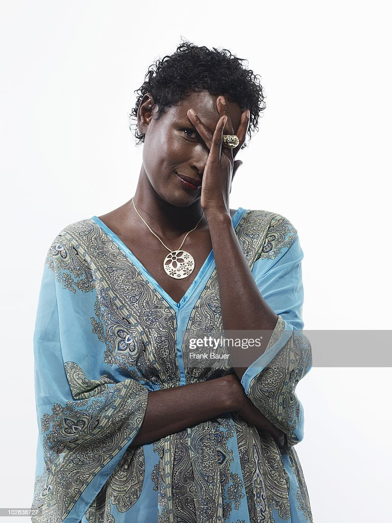 Model & human rights activist Waris Dirie poses for a portrait shoot in Munich on June 30, 2009.