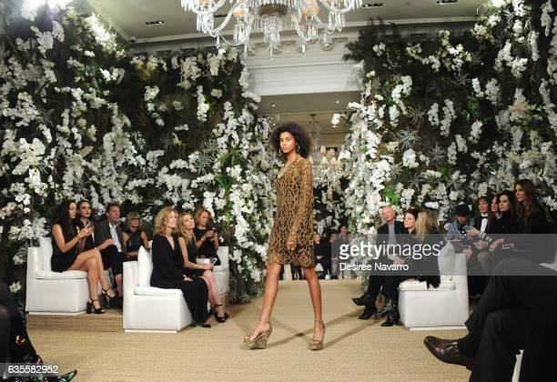 Model Imaan Hammam walks the runway for the Ralph Lauren show during February 2017 New York Fashion Week at the Ralph Lauren Collection Store on...