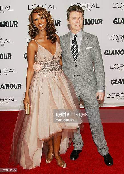 Model Iman and her husband musician David Bowie attend Glamour Magazine's 'Glamour Women Of The Year Awards 2006' at Carnegie Hall October 30 2006 in...
