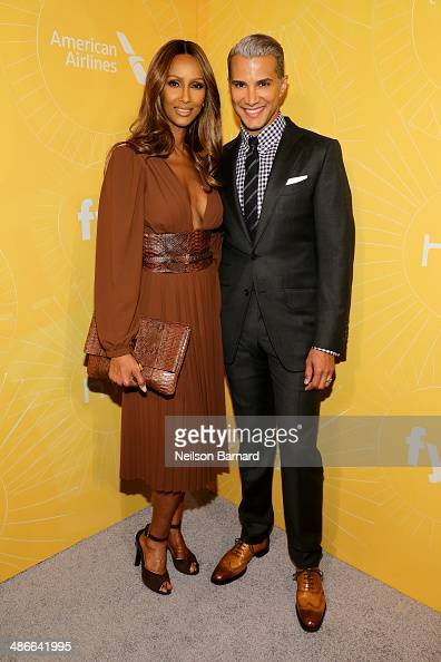 Model Iman and stylist Jay Manuel attend Variety Power Of Women New York presented by FYI at Cipriani 42nd Street on April 25 2014 in New York City
