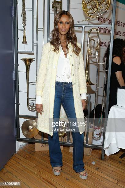 Model Iman attends 'Dr Hawa Abdi Foundation Through The Fire' benefit screening at Culture Project on April 5 2014 in New York City