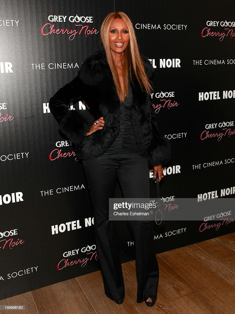 Model <a gi-track='captionPersonalityLinkClicked' href=/galleries/search?phrase=Iman+-+Fashion+Model&family=editorial&specificpeople=132463 ng-click='$event.stopPropagation()'>Iman</a> attends Gato Negro Films & The Cinema Society screening of 'Hotel Noir' at the Crosby Street Hotel on November 9, 2012 in New York City.
