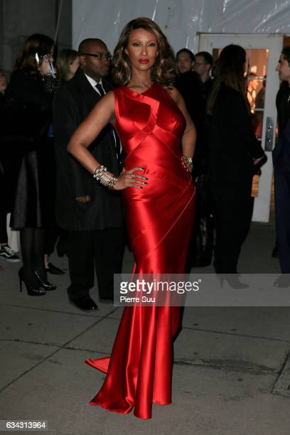 Model Iman attends the 19th annual amfAR's New York Gala to kick off NY Fashion Week at Cipriani Wall Street on February 8 2017 in New York City
