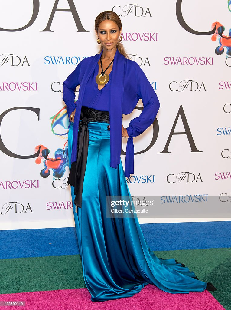 Model <a gi-track='captionPersonalityLinkClicked' href=/galleries/search?phrase=Iman+-+Fashion+Model&family=editorial&specificpeople=132463 ng-click='$event.stopPropagation()'>Iman</a> attends the 2014 CFDA fashion awards at Alice Tully Hall, Lincoln Center on June 2, 2014 in New York City.
