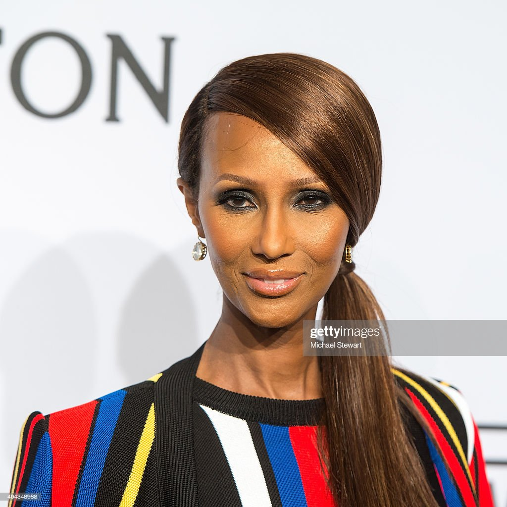 Model <a gi-track='captionPersonalityLinkClicked' href=/galleries/search?phrase=Iman+-+Fashion+Model&family=editorial&specificpeople=132463 ng-click='$event.stopPropagation()'>Iman</a> attends the 2015 amfAR New York Gala at Cipriani Wall Street on February 11, 2015 in New York City.
