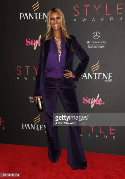 Model Iman attends the 9th annual Style Awards during MercedesBenz Fashion Week at The Stage at Lincoln Center on September 5 2012 in New York City