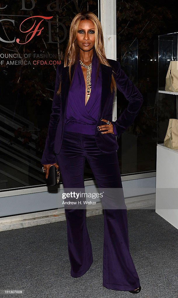 Model Iman attends the 9th annual Style Awards during Mercedes-Benz Fashion Week at The Stage Lincoln Center on September 5, 2012 in New York City.
