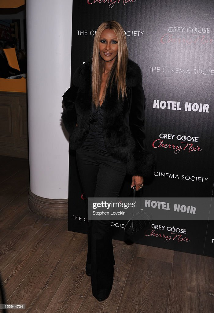 Model <a gi-track='captionPersonalityLinkClicked' href=/galleries/search?phrase=Iman+-+Fashion+Model&family=editorial&specificpeople=132463 ng-click='$event.stopPropagation()'>Iman</a> attends the Gato Negro Films And The Cinema Society Host A Screening Of 'Hotel Noir' at Crosby Street Hotel on November 9, 2012 in New York City.