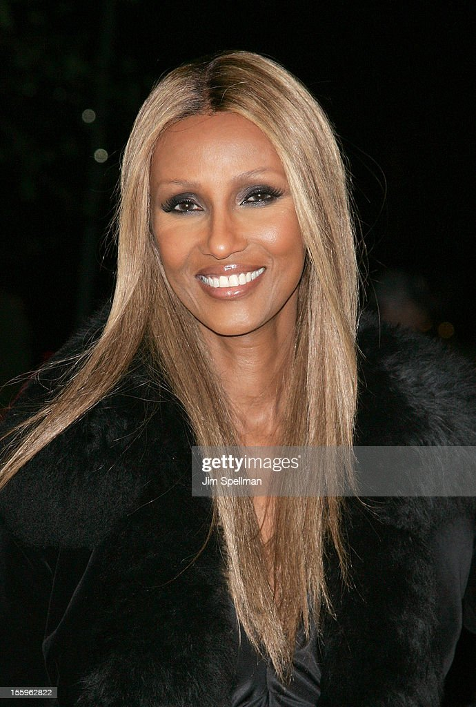 Model Iman attends the Gato Negro Films & The Cinema Society screening of 'Hotel Noir' at Crosby Street Hotel on November 9, 2012 in New York City.