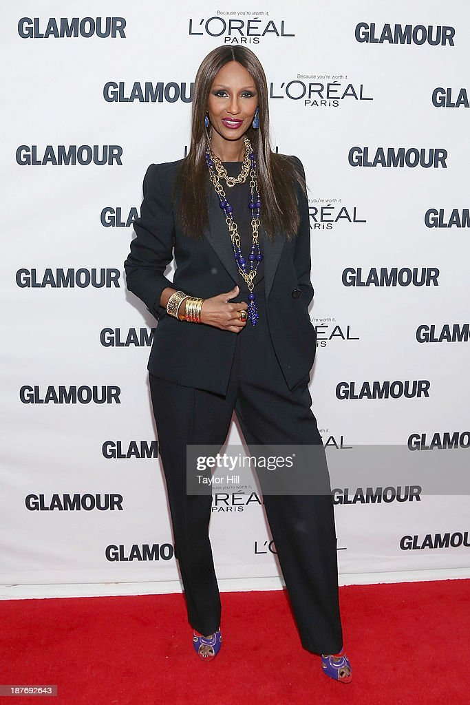 Model <a gi-track='captionPersonalityLinkClicked' href=/galleries/search?phrase=Iman+-+Fashion+Model&family=editorial&specificpeople=132463 ng-click='$event.stopPropagation()'>Iman</a> attends the Glamour Magazine 23rd annual Women Of The Year gala on November 11, 2013 in New York, United States.