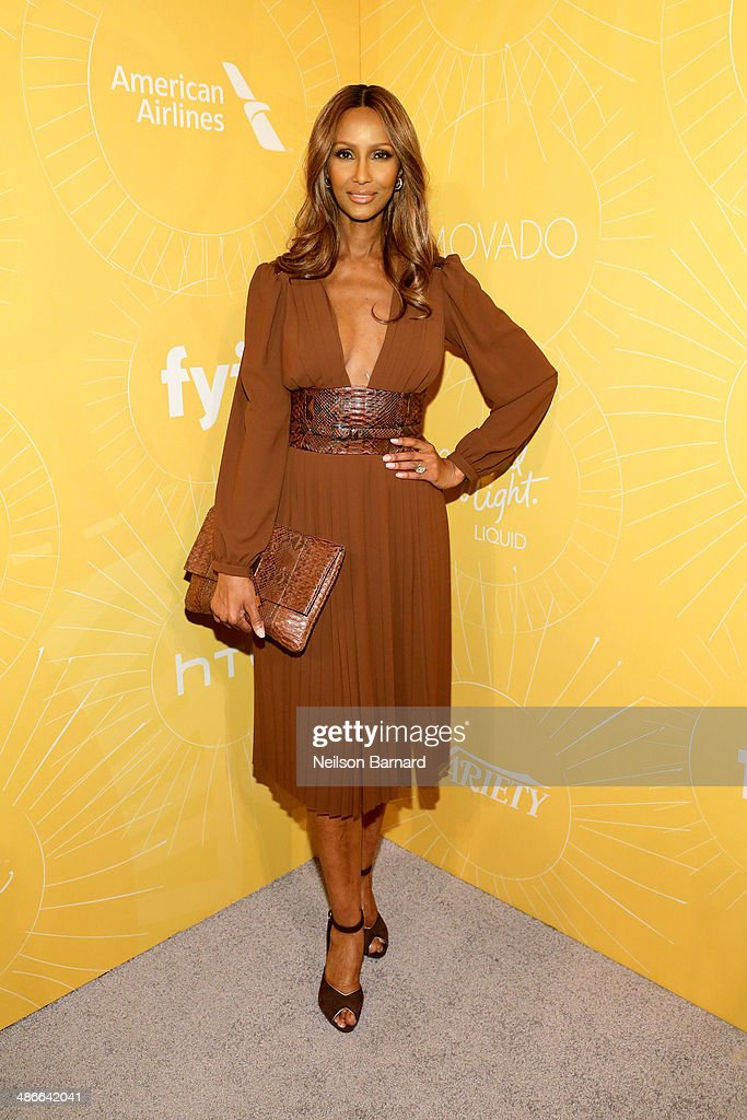 Model <a gi-track='captionPersonalityLinkClicked' href=/galleries/search?phrase=Iman+-+Fashion+Model&family=editorial&specificpeople=132463 ng-click='$event.stopPropagation()'>Iman</a> attends Variety Power Of Women: New York presented by FYI at Cipriani 42nd Street on April 25, 2014 in New York City.
