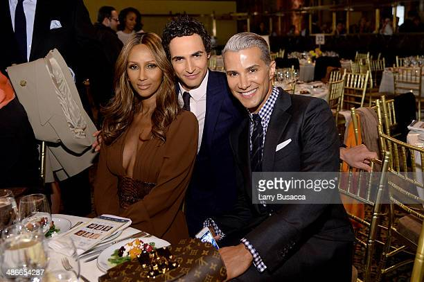 Model Iman Zac Posen and Jay Manuel attend Variety Power Of Women New York presented by FYI at Cipriani 42nd Street on April 25 2014 in New York City