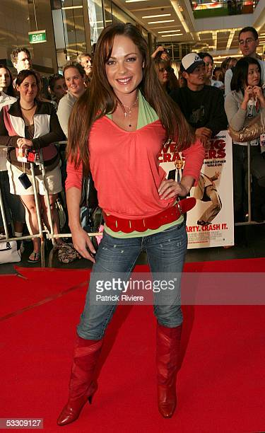 Model Imogen Bailey attends the Australian premiere of 'Wedding Crashers' at the Greater Union Cinemas on July 31 2005 in Sydney Australia