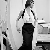 Model in a Haltertop Dress by Katja of Sweden