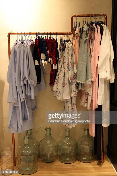 Model Ines de la Fressange's boutique is photographed for Madame Figaro on May 18 2015 in Paris France PUBLISHED IMAGE CREDIT MUST READ Sandrine...