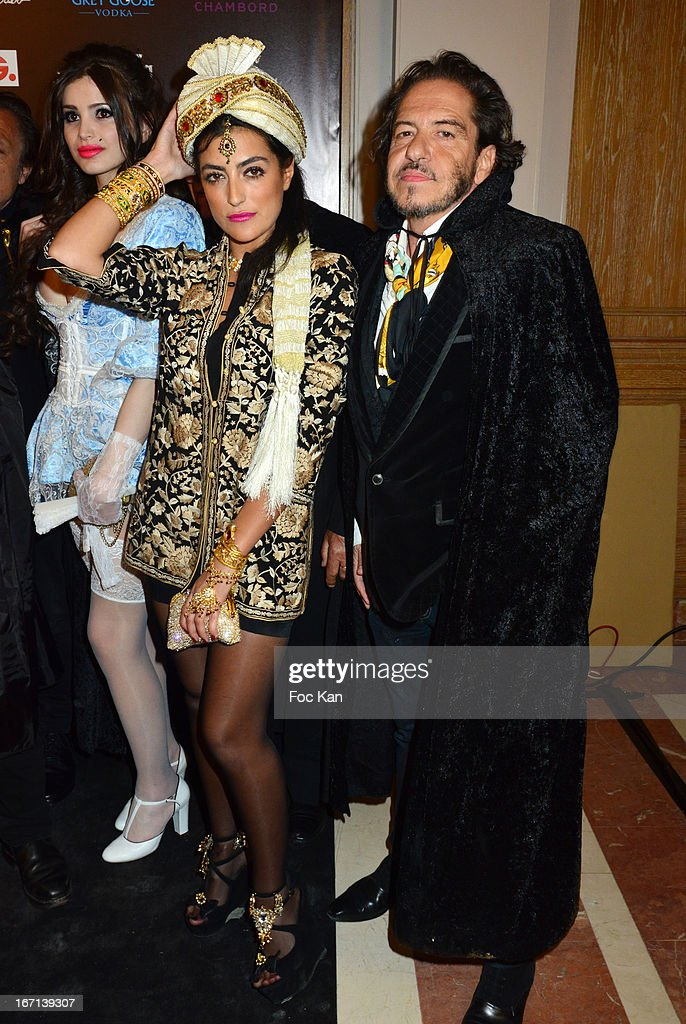 A model, Ines Olympe Mercadal and Jose Fosse attend the 'Bal Des Princesses 2013' At the Pavillon Royal on April 20, 2013 in Paris, France.