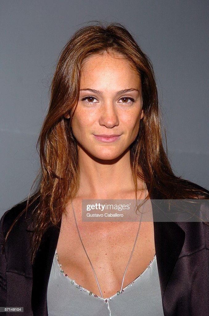 Model Ines Rivero poses at the Jade Ocean Celebration on March 17, 2006 in Sunny Isles , Florida.