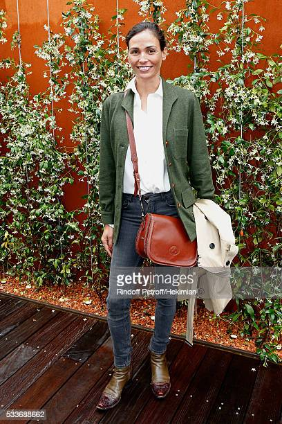 Model Ines Sastre attends the 2016 French Tennis Open Day Two at Roland Garros on May 23 2016 in Paris France